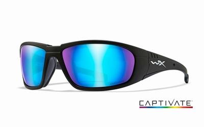 WileyX zonnebril - BOSS Captivate pol. blue mirr, mt zwrt fr