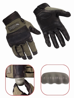 HYBRID Flame Resistant removable nuckle gloves, green