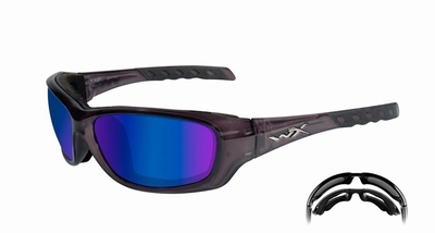 WileyX zonnebril - GRAVITY polarised blue, crystal black frm