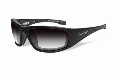 WileyX zonnebril - BOSS, meekleurend grijs / mat zwart frame