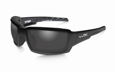 WileyX zonnebril - TITAN, gepolariseerd smoke / gloss black