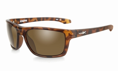 WileyX zonnebril - KINGPIN, bruine glazen / mat demi frame