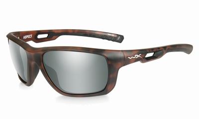 WileyX zonnebril - ASPECT, pol. flash smoke green / mat demi