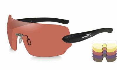WileyX schietbril - DETECTION, 5 lenses / mat black frame