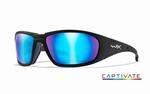 WileyX zonnebril - BOSS Captivate Blue Mirror, mat zwart fr.