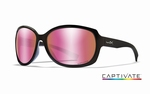 WileyX zonnebril - MYSTIQUE, Captivate rose / gl. zwrt frm