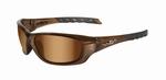 WileyX zonnebril - GRAVITY, bronze flash glazen / bruin frm.