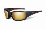 WileyX zonnebril - TIDE, pol. amber gold mirror / mat bruin