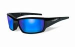 WileyX zonnebril - TIDE, pol. blue mirror / mat zwart frame