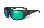 WileyX zonnebril - OMEGA, pol. emerald mirror / mat zwrt frm
