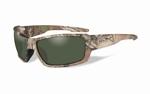 WileyX zonnebril - REBEL, pol. groene lenzen / camo frame Extra Large