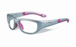 Wiley X stevige kinder sportbril - VICTORY, zilver/roze