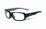 Wiley X stevige kinder sportbril - GAMER, zwart/silver