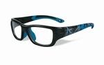 Wiley X stevige kinder sportbril - FLASH, zwart/blauw