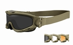 WileyX zonnebril - SPEAR (goggle) - dual lens Tan