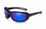 WileyX zonnebril - WAVE pol. blue mirror / gloss black frame