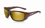 WileyX zonnebril - KOBE, polarised gold mirror / brown frame