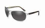 WileyX zonnebril - KLEIN, smoke grey glazen / zilver frame